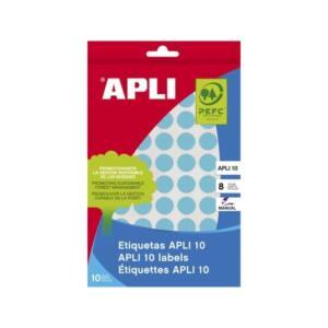 APLI Etikett, 16 mm kör, kézzel írható, színes, , kék, 432 etikett/csomag