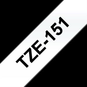 """BROTHER Festékszalag TZe-151, Átlátszó alapon Fekete, Laminált, 24mm  0.94"""", 8 méter"""