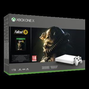 MS Konzol Xbox One X 1TB Fehér + Fallout76