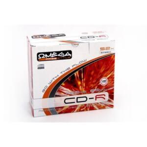 OMEGA-FREESTYLE CD lemez CD-R80 10db/Csomag 52x Slim tok