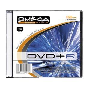 OMEGA-FREESTYLE DVD lemez +R 4.7GB 16x Slim tok