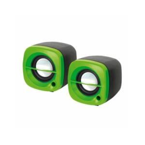 OMEGA hangszóró 2.0 OG-15 6W, USB, zöld